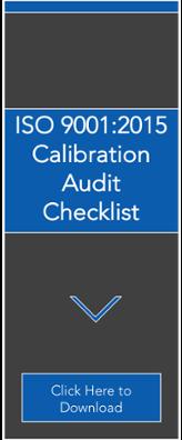 Calibration Audit Checklist